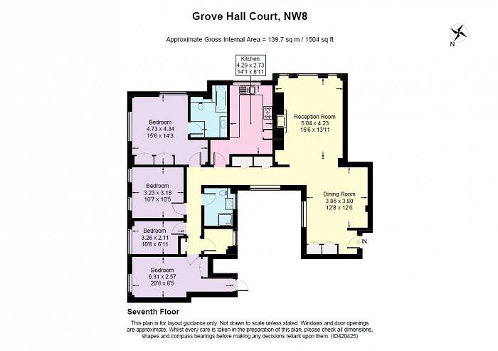 Grove Hall Court, Hall Road, NW8 Floorplan