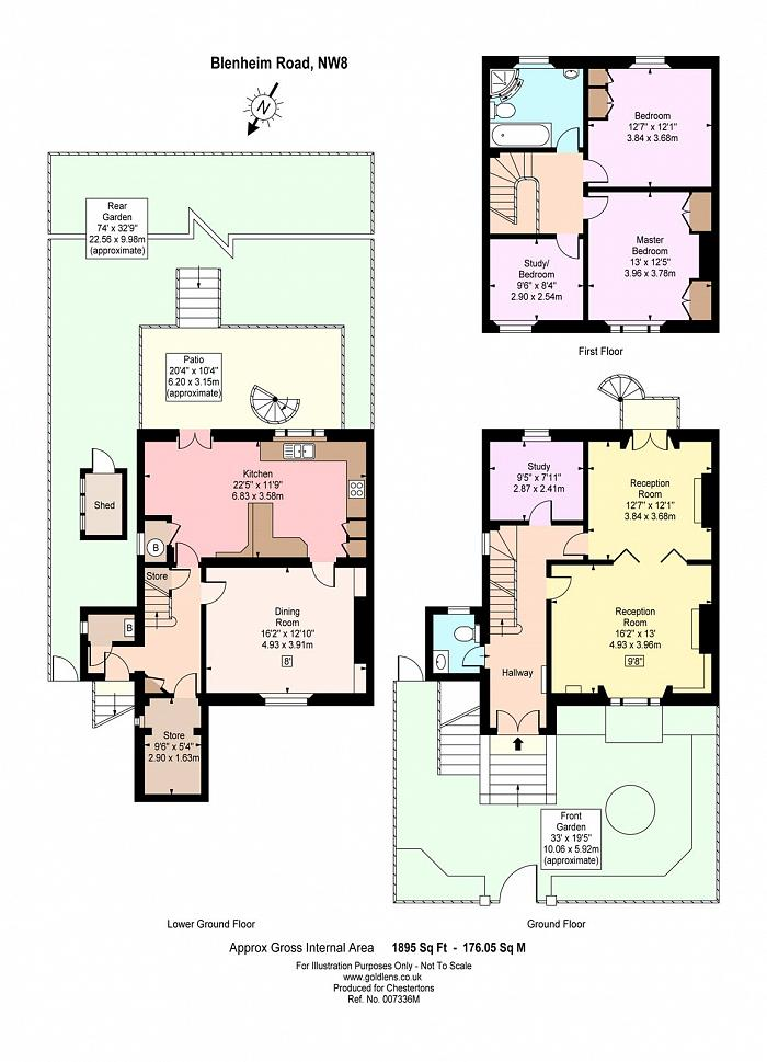 Blenheim Road, St John's Wood, NW8 Floorplan