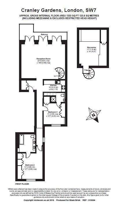 Cranley Gardens, South Kensington, SW7 Floorplan