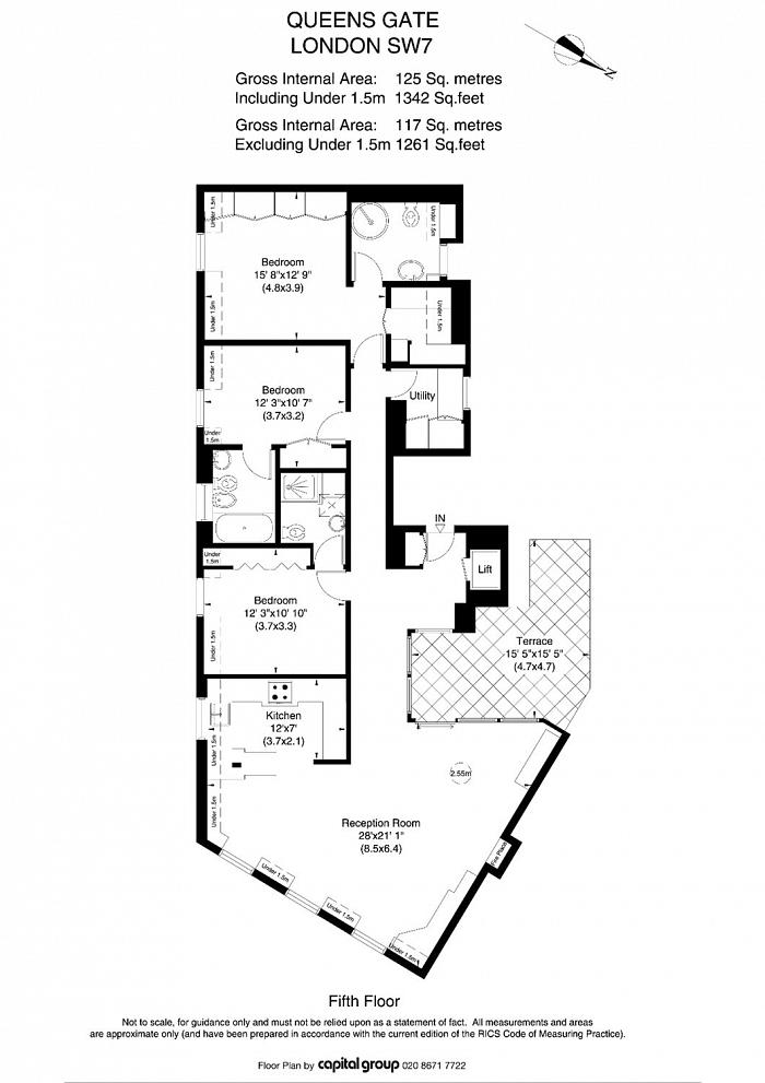 Queen's Gate, South Kensington, SW7 Floorplan