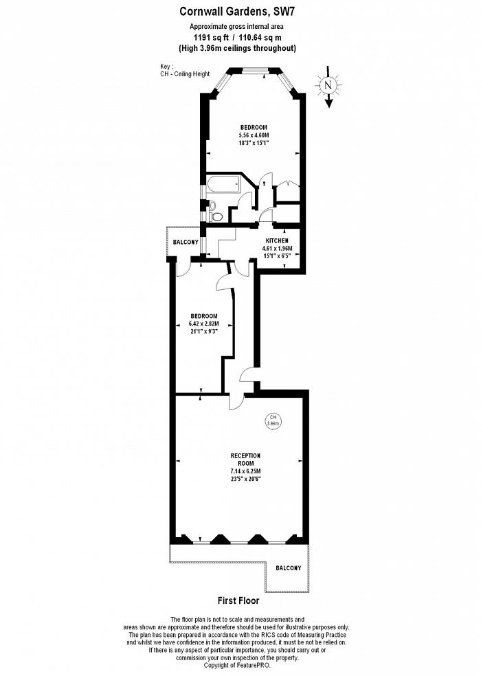 Cornwall Gardens, South Kensington, SW7 Floorplan