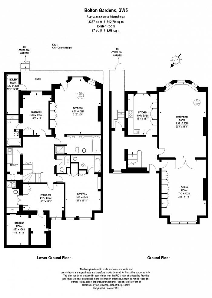 Bolton Gardens, South Kensington, SW5 Floorplan