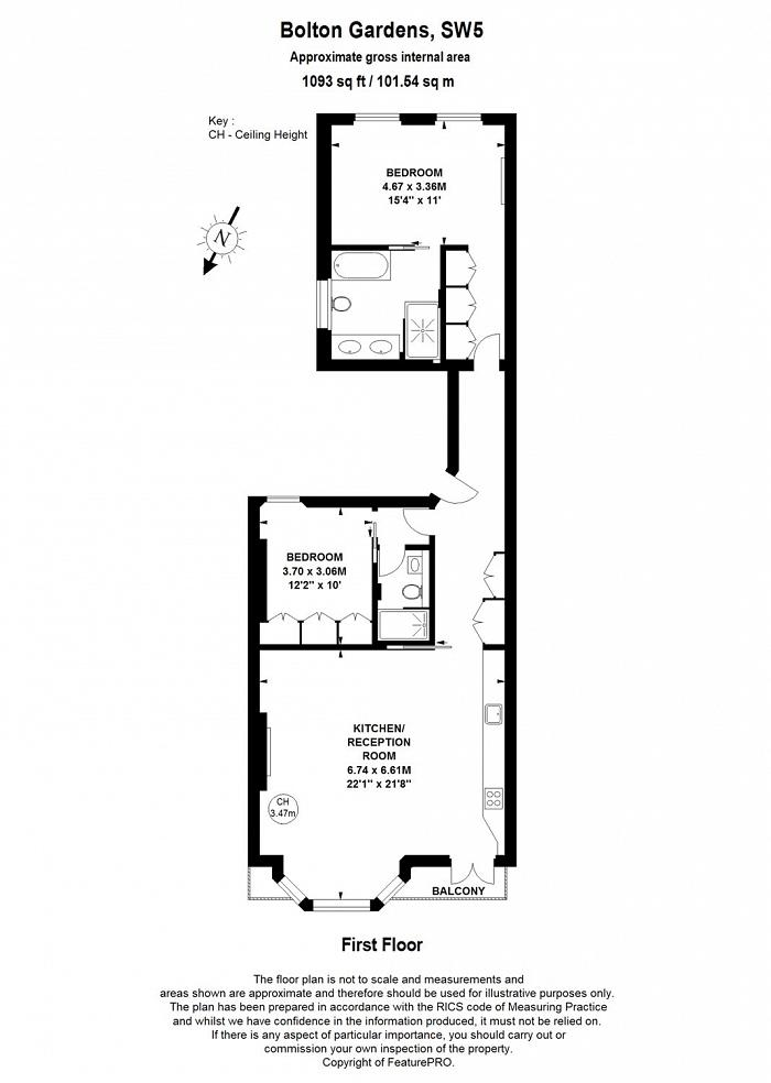 Bolton Gardens, Earls Court, SW5 Floorplan