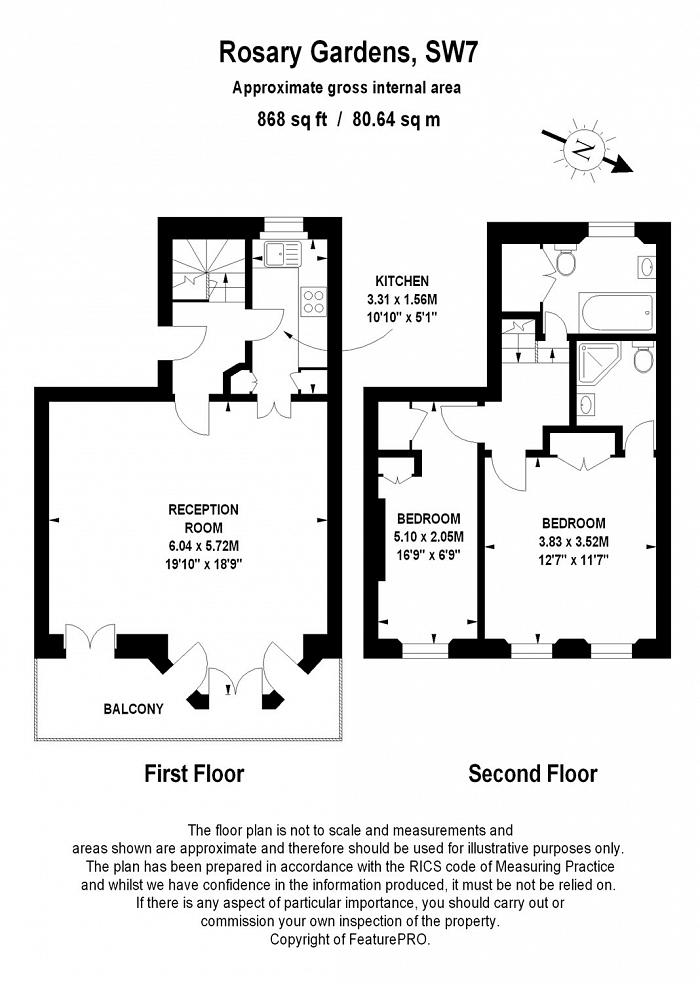 Rosary Gardens, South Kensington, SW7 Floorplan