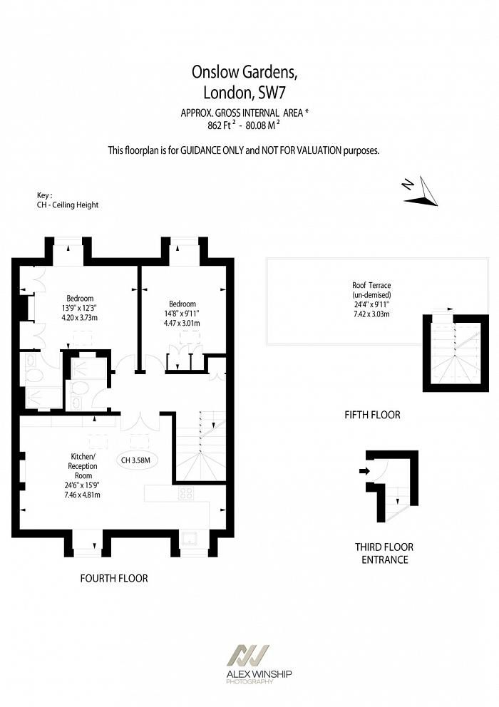 Onslow Gardens, South Kensington, SW7 Floorplan