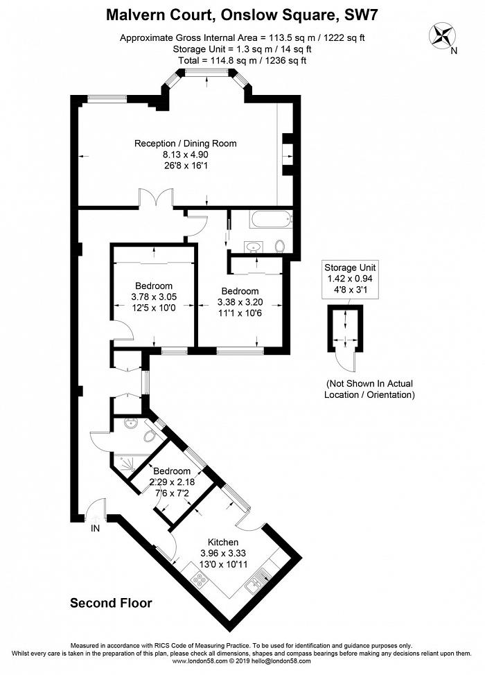 Malvern Court, Onslow Square, SW7 Floorplan