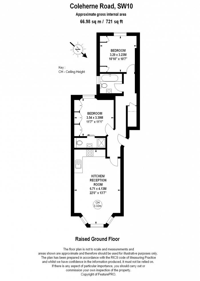 Coleherne Road, Chelsea, SW10 Floorplan