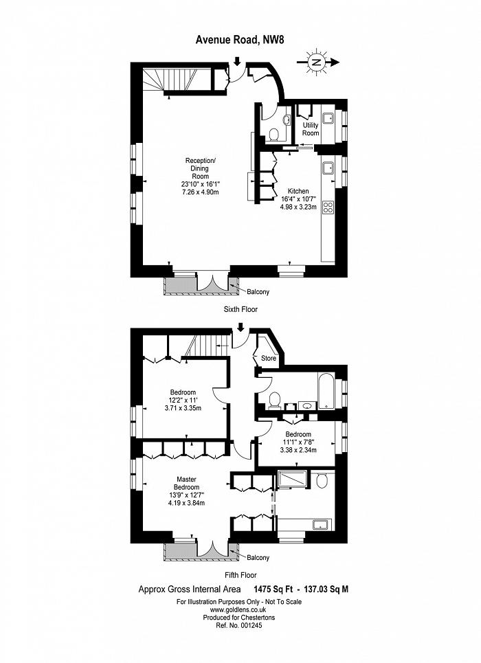 Avenue Road, St John's Wood, NW8 Floorplan