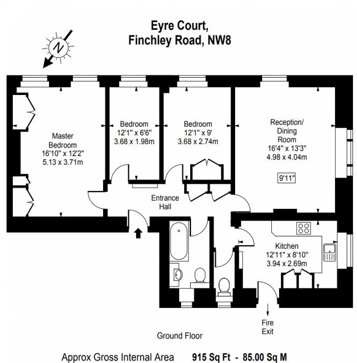 Eyre Court, 3-21 Finchley Road, NW8 Floorplan