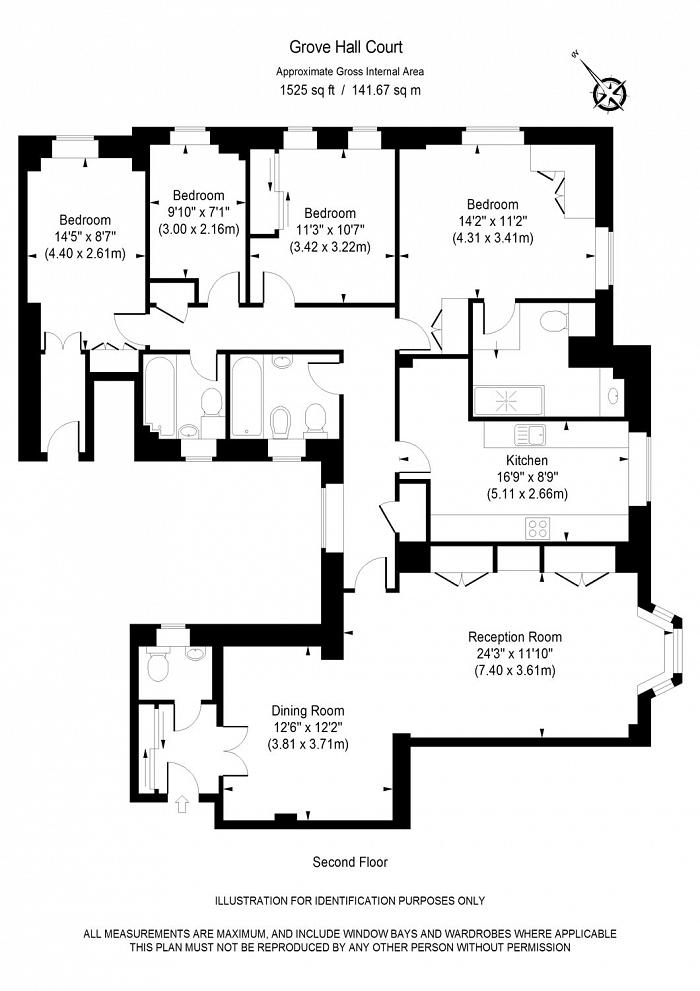 Grove Hall Court, St John's Wood, NW8 Floorplan