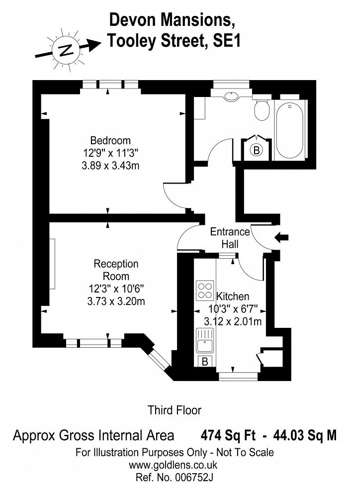 Devon Mansions, Tooley Street, SE1 Floorplan