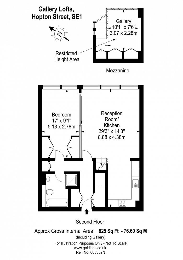 Gallery Lofts, 69, SE1 Floorplan