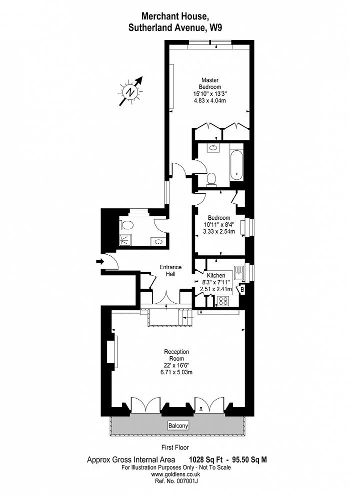 Merchant House, 184-186 Sutherland Avenue, W9 Floorplan