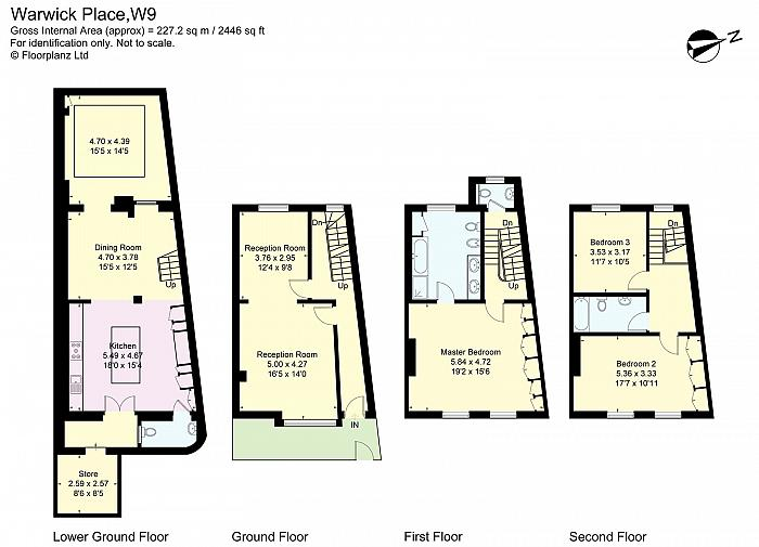 Warwick Place, Little Venice, W9 Floorplan