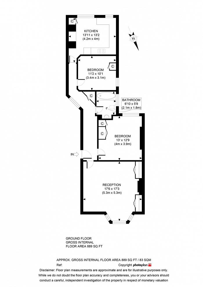 Castellain Mansions, Castellain Road, W9 Floorplan