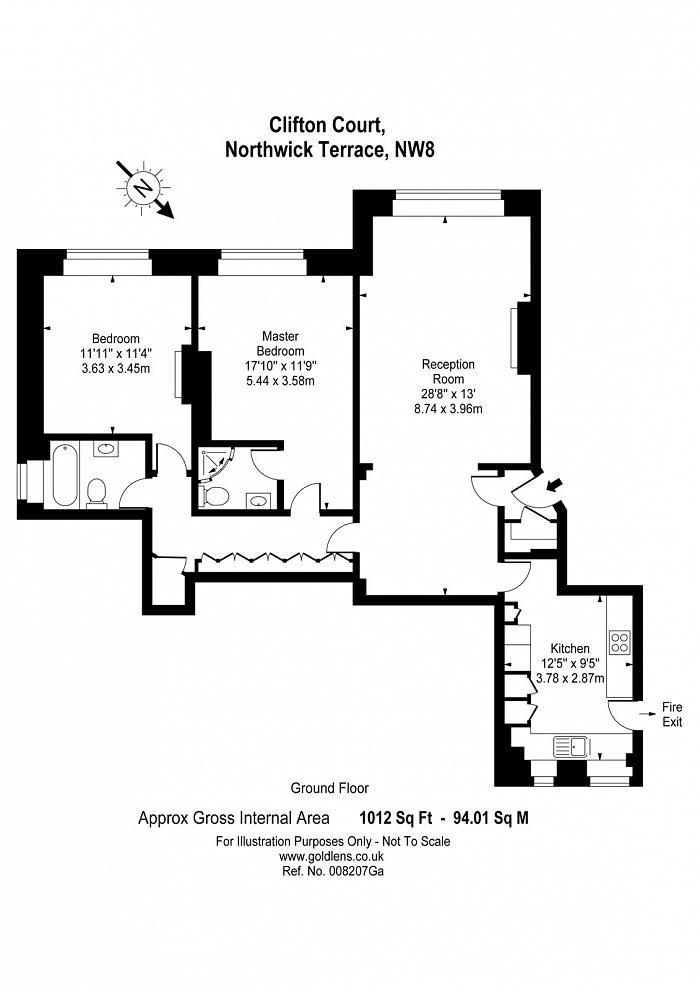 Clifton Court, Maida Vale, NW8 Floorplan