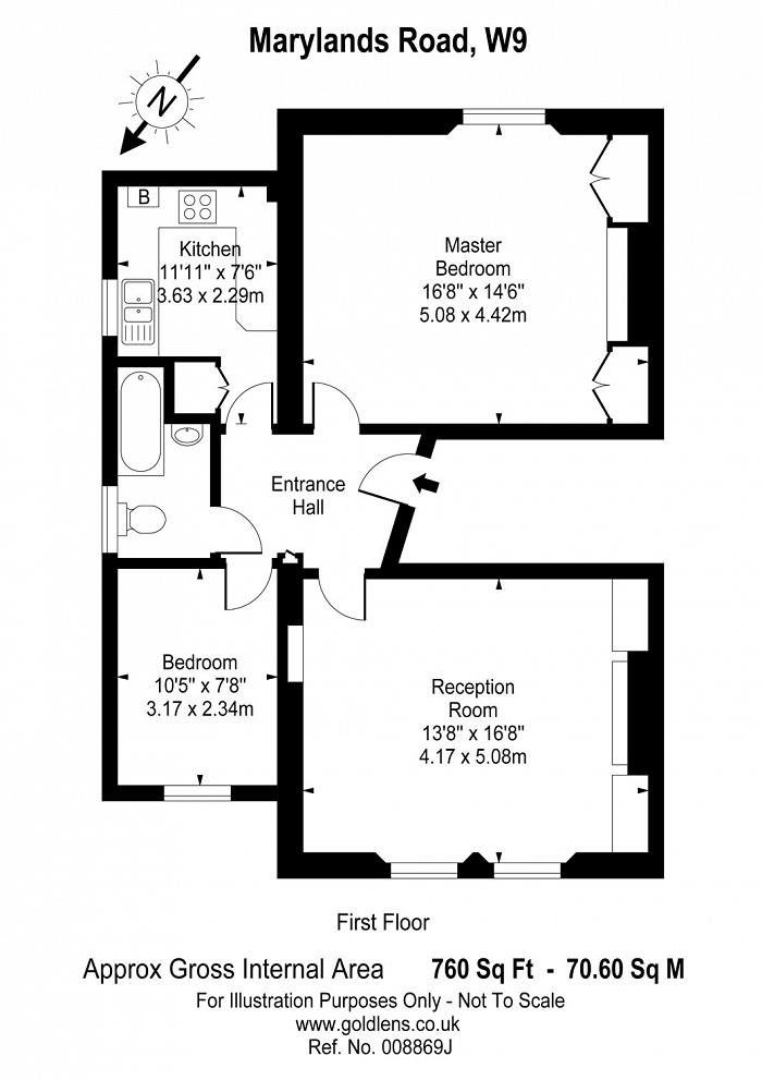 Marylands Road, Maida Vale, W9 Floorplan
