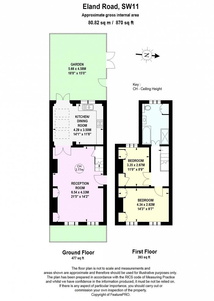 Eland Road, Battersea, SW11 Floorplan