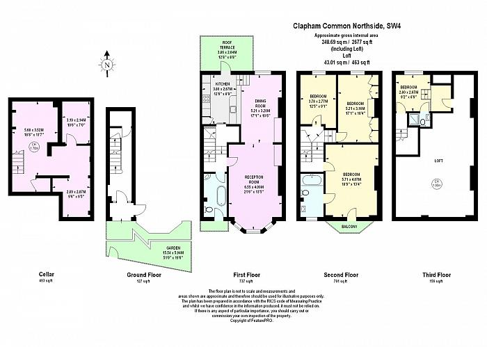 Clapham Common North Side, Between the Commons, SW4 Floorplan