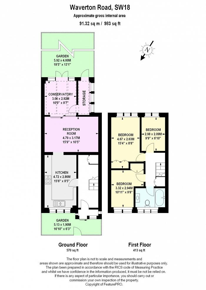 Waverton Road, Earlsfield, SW18 Floorplan