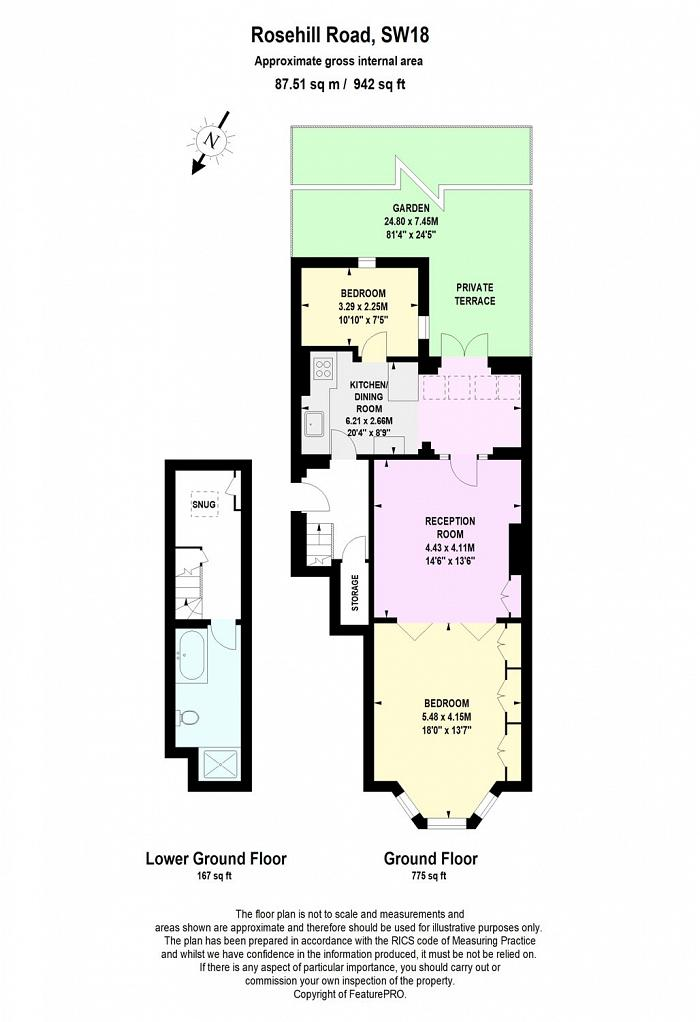 Rosehill Road, Wandsworth, SW18 Floorplan
