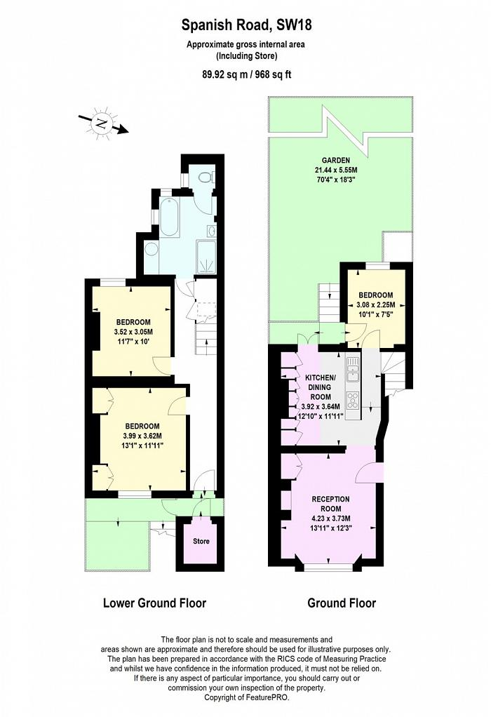 Spanish Road, Wandsworth, SW18 Floorplan