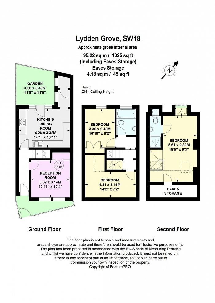 Lydden Grove, Wandsworth, SW18 Floorplan