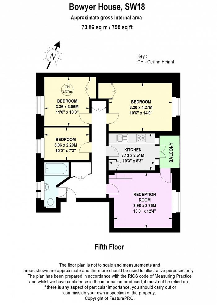 Bowyer House, Vermont Road, SW18 Floorplan