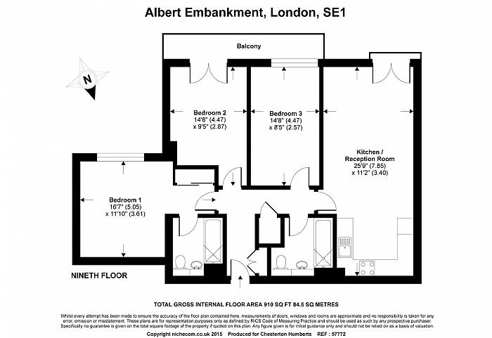 Salamanca Square, 9 Albert Embankment, SE1 Floorplan