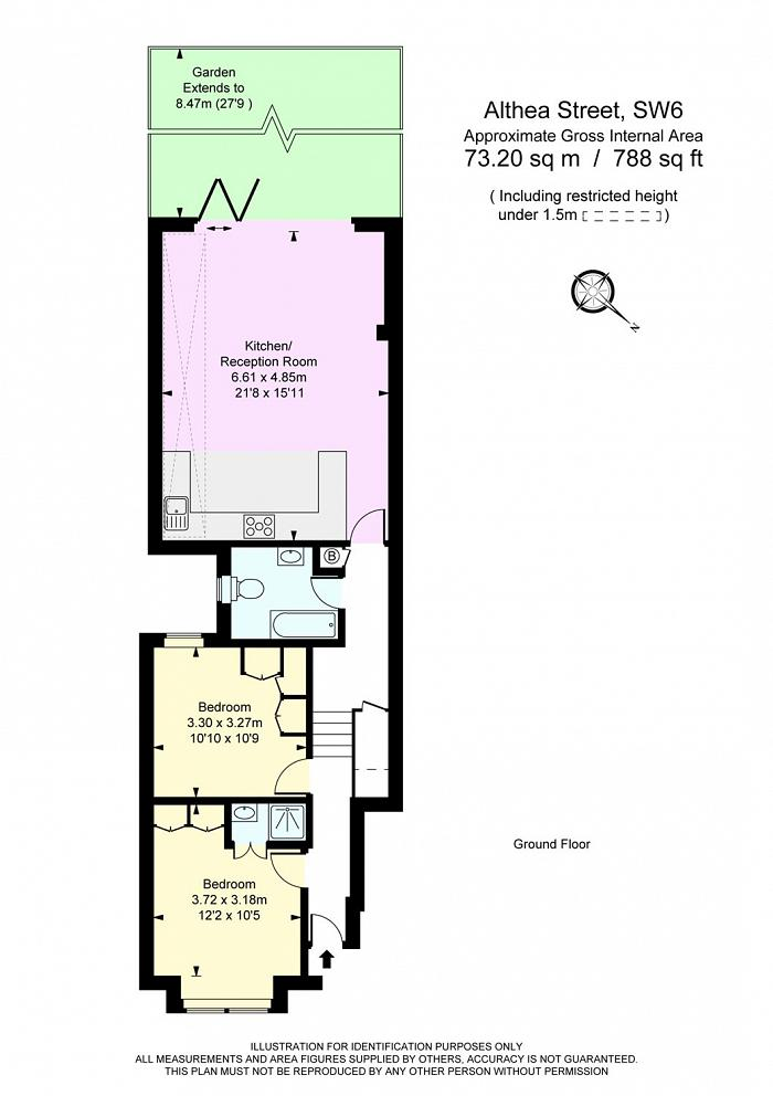 Althea Street, Walham Green, SW6 Floorplan